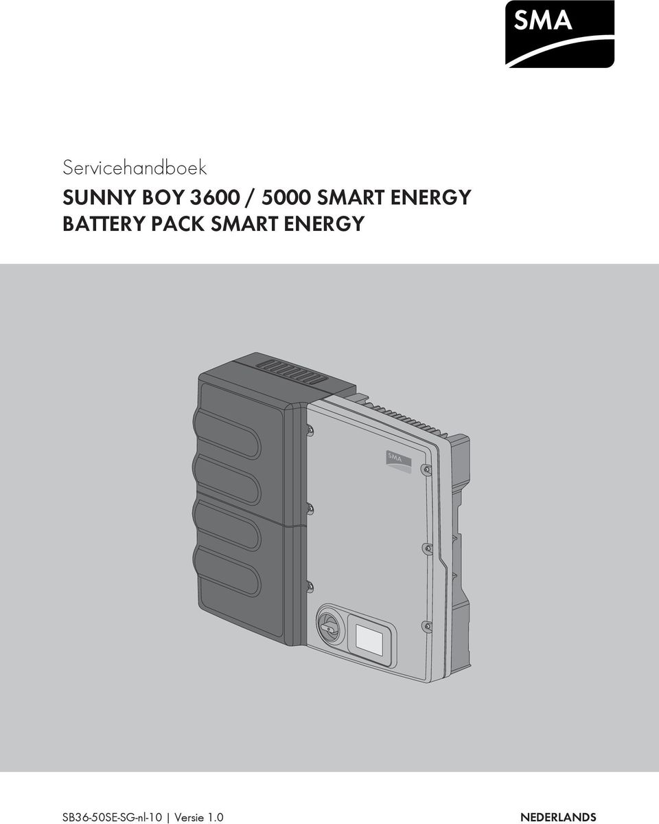 servicehandboek sunny boy 3600 5000 smart energy battery pack smart energy pdf. Black Bedroom Furniture Sets. Home Design Ideas
