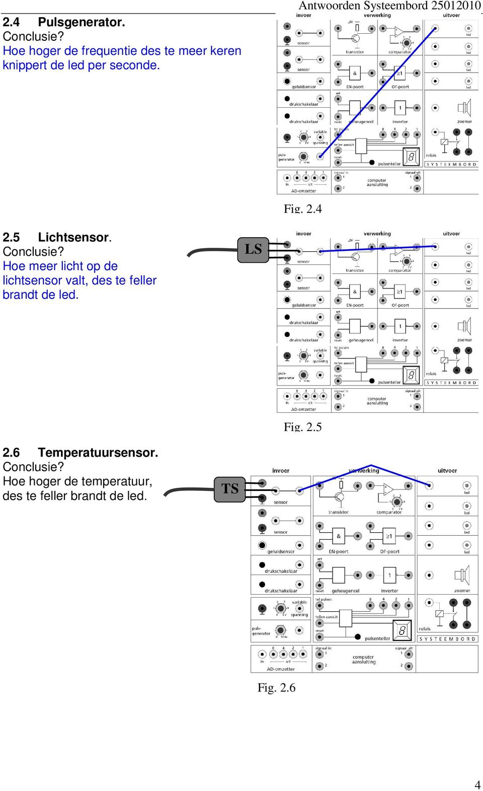Antwoorden Systeembord 25012010 Fig. 2.4 2.5 Lichtsensor.