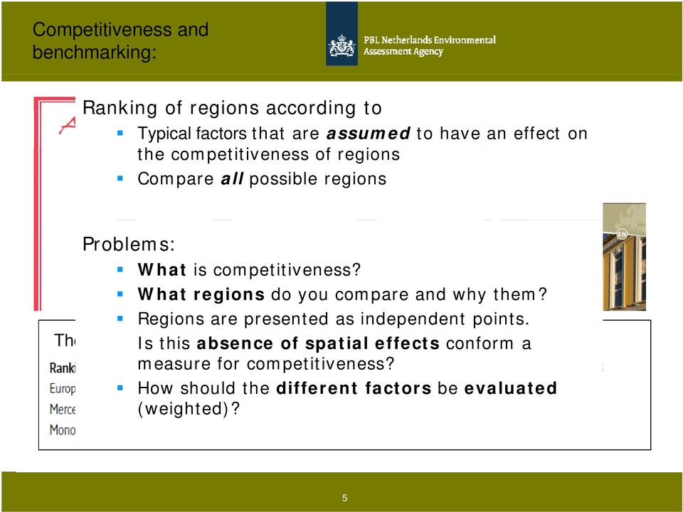 What regions do you compare and why them? Regions are presented as independent points.