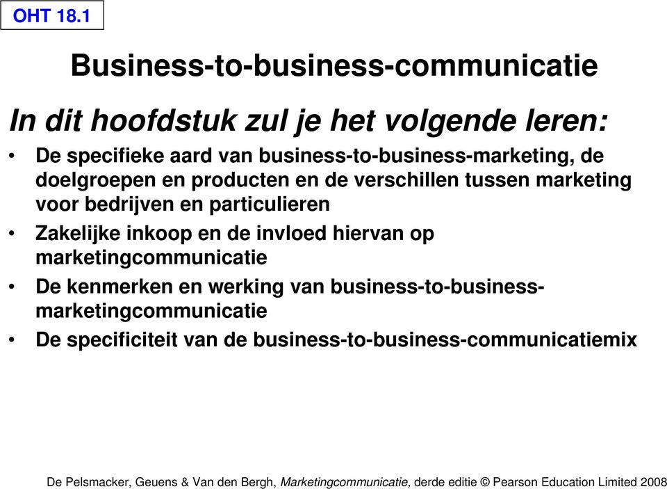 business-to-business-marketing, de doelgroepen en producten en de verschillen tussen marketing voor