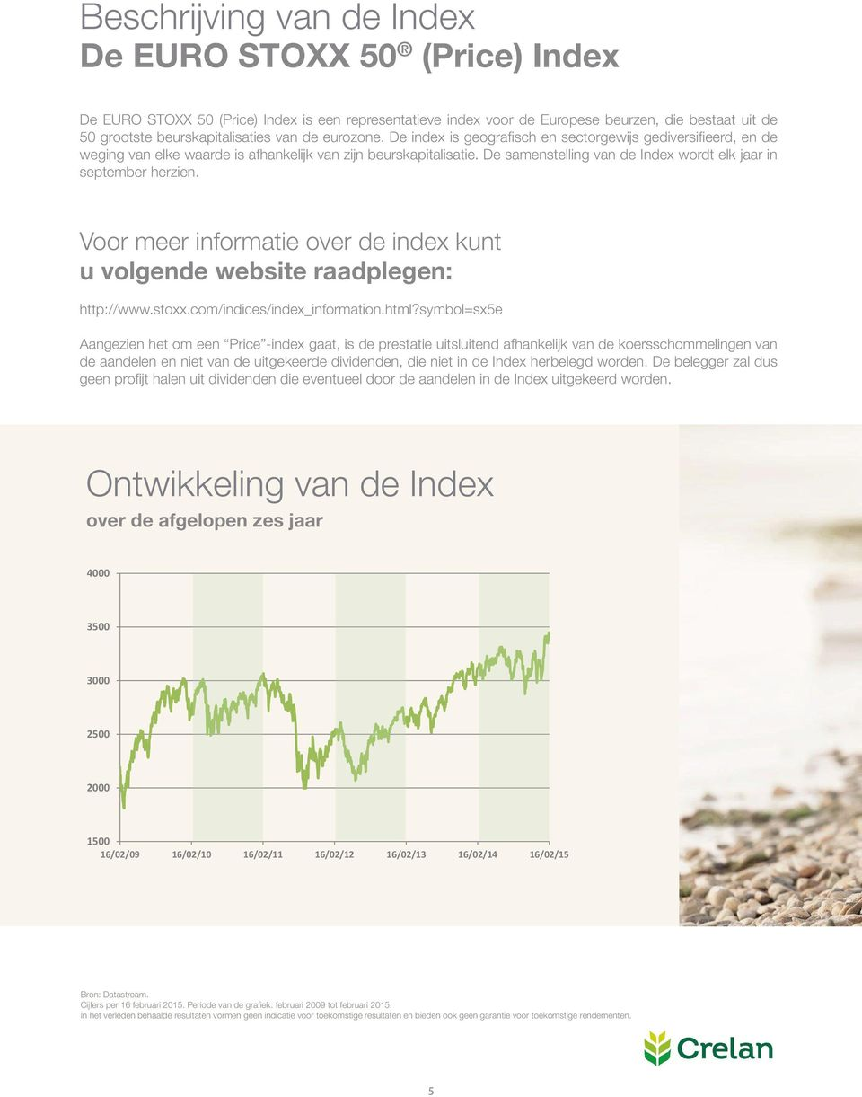 De samenstelling van de Index wordt elk jaar in september herzien. Voor meer informatie over de index kunt u volgende website raadplegen: http://www.stoxx.com/indices/index_information.html?