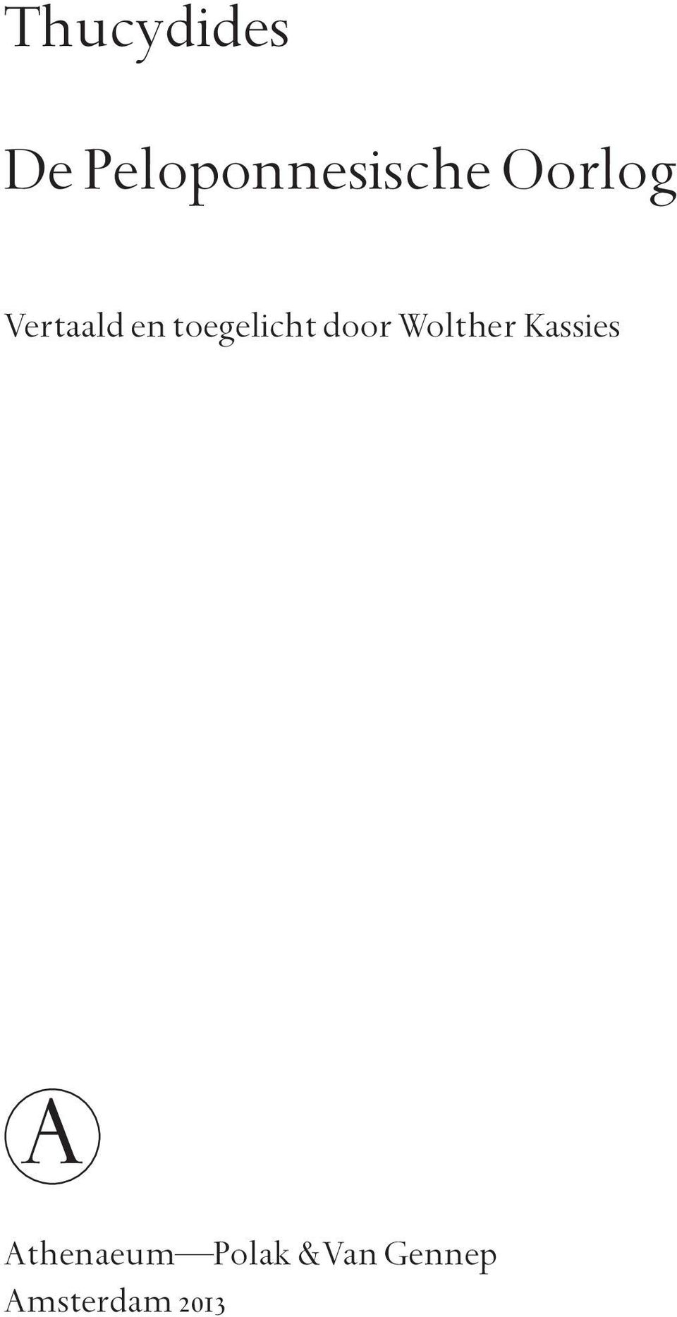 door Wolther Kassies A