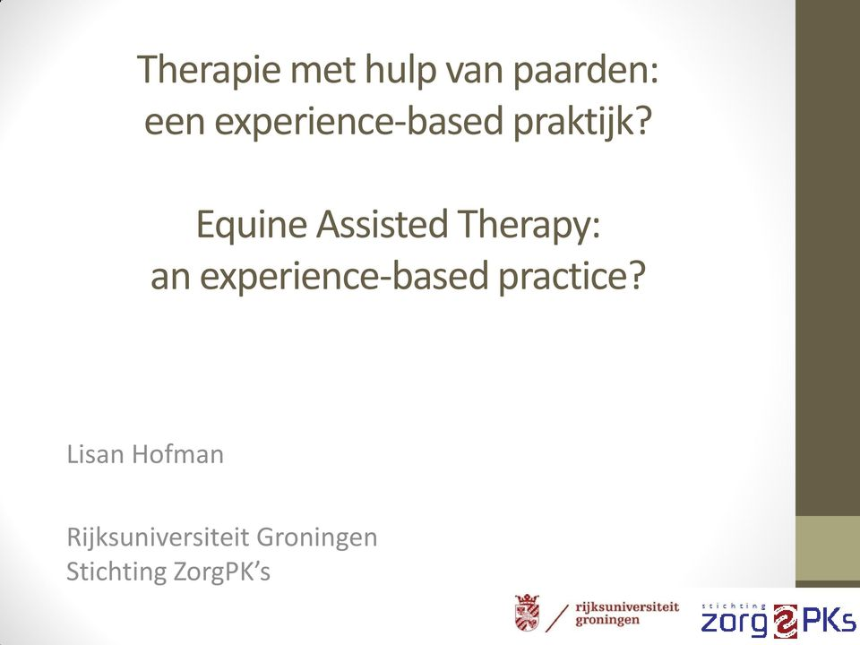 Equine Assisted Therapy: an