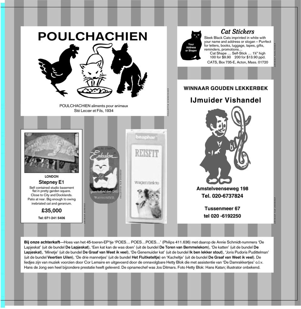 01720 ARCHIEF PAULUSSEN POULCHACHIEN aliments pour animaux Sté Lecœr et Fils, 1934 COLLECTIE SCHREUDERS LONDON Stepney E1 Self contained studio basement flat in pretty garden square.