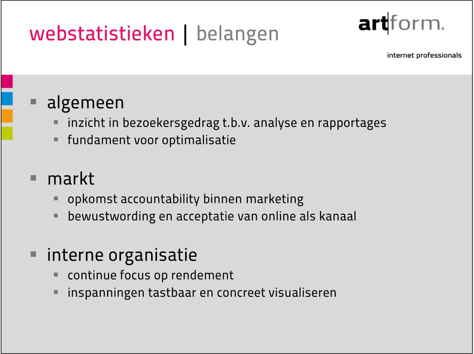 accountability binnen marketing bewustwording en acceptatie van online als