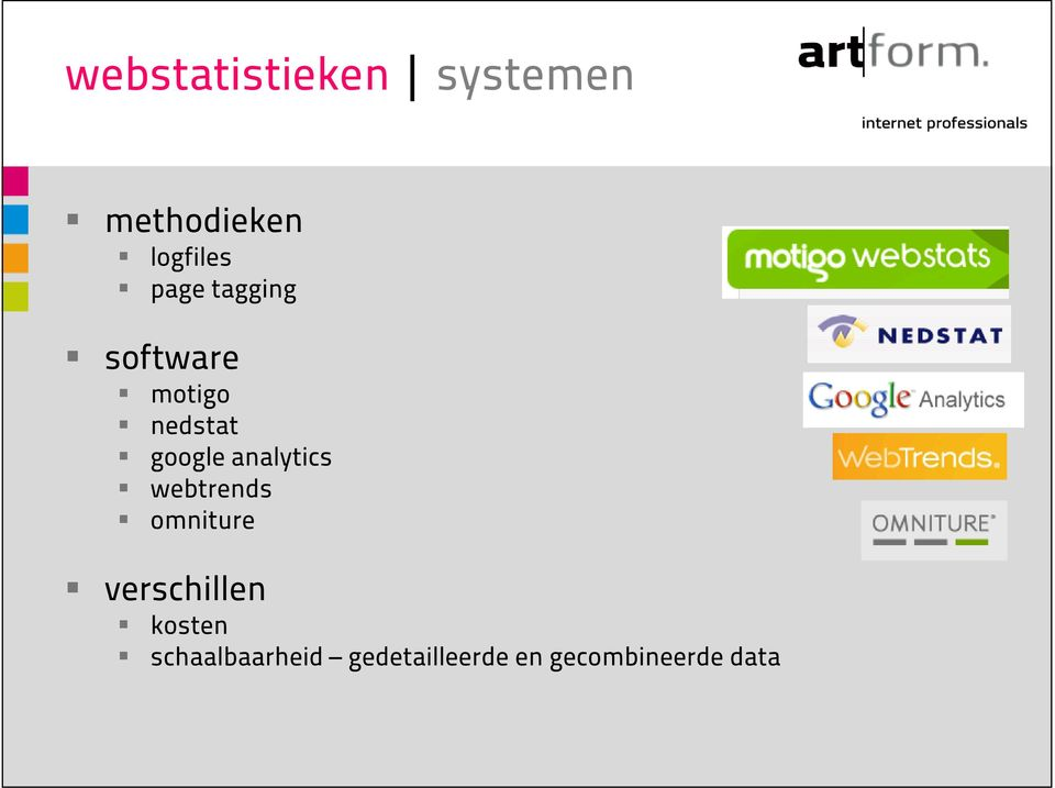 analytics webtrends omniture verschillen kosten