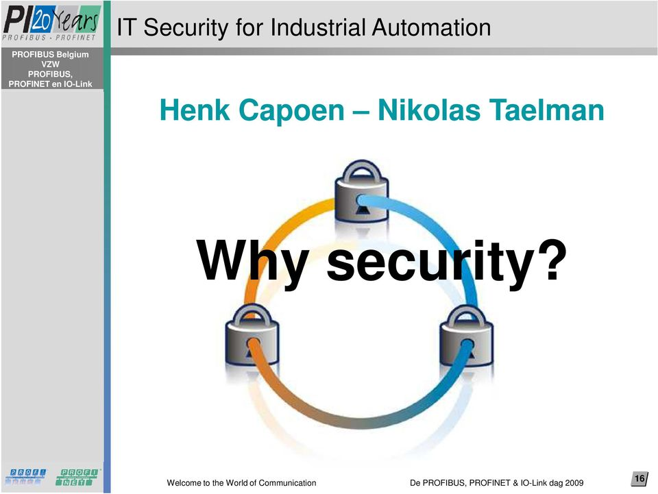 Nikolas Taelman Why security?