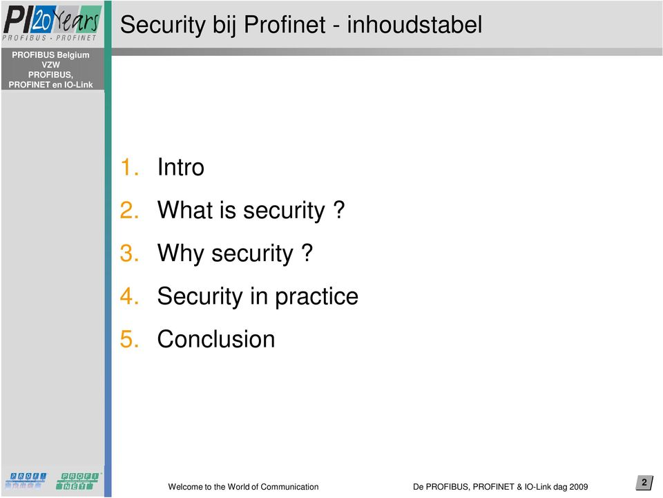 Why security? 4.