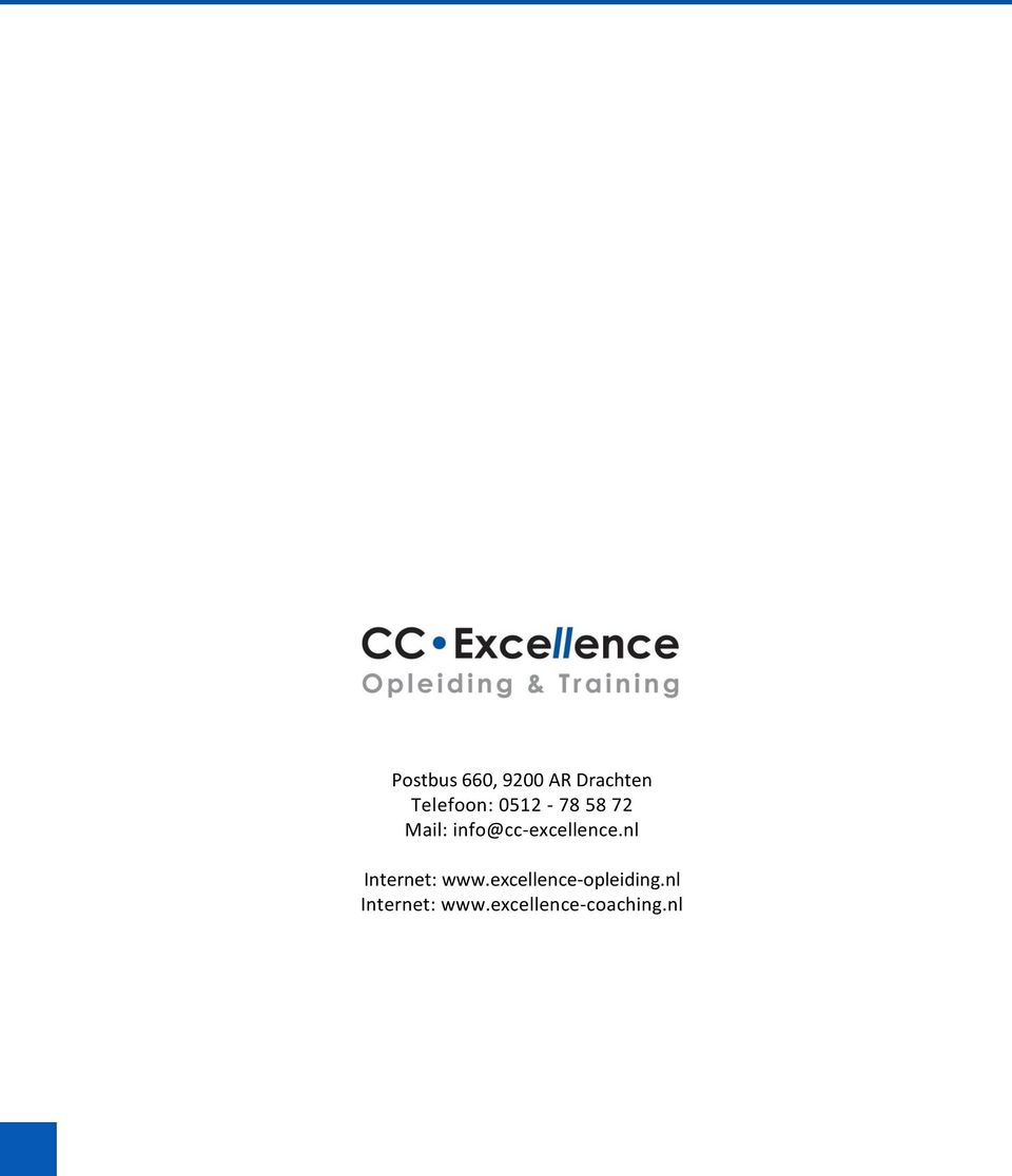 excellence-opleiding.nl Internet: www.