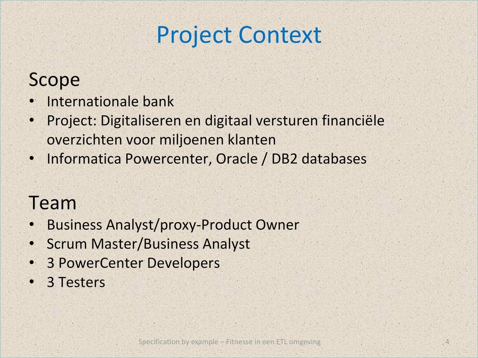 Informatica Powercenter, Oracle / DB2 databases Team Business