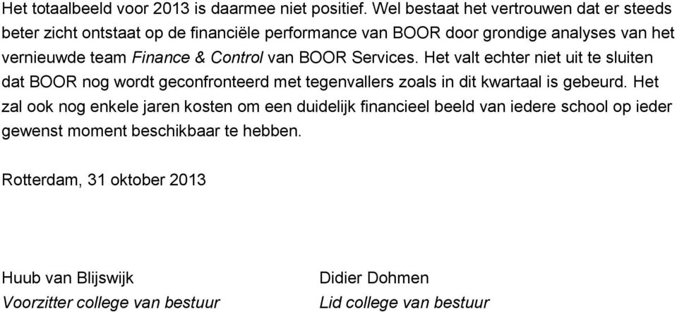 Finance & Control van BOOR Services.