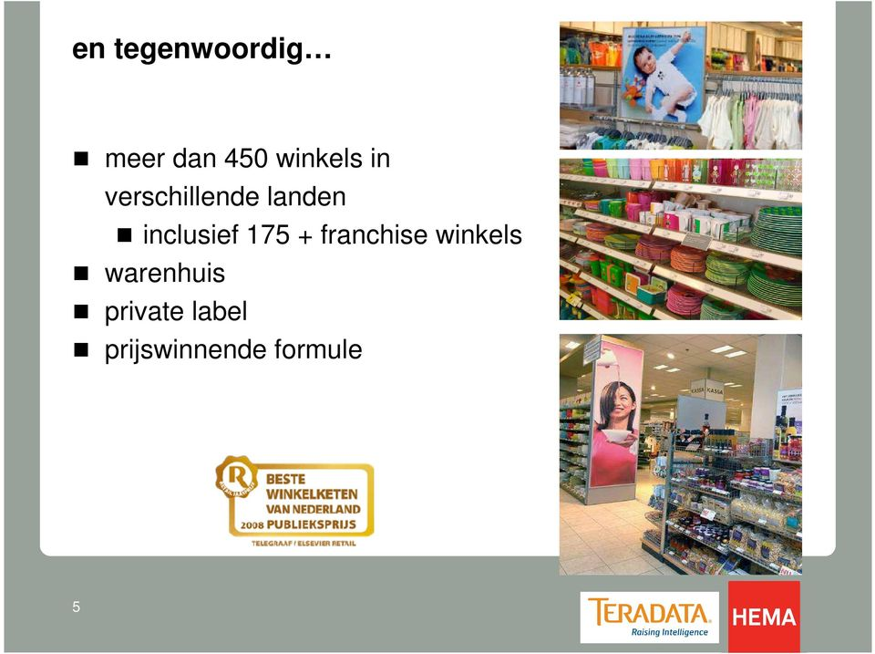 inclusief 175 + franchise winkels
