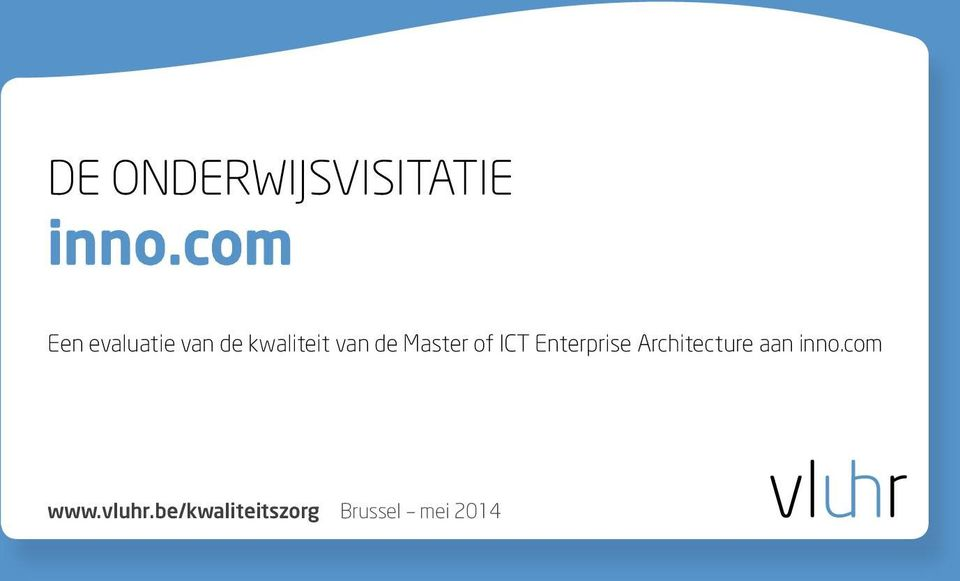 de Master of ICT Enterprise Architecture
