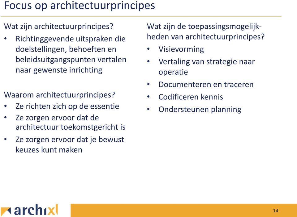 architectuurprincipes?