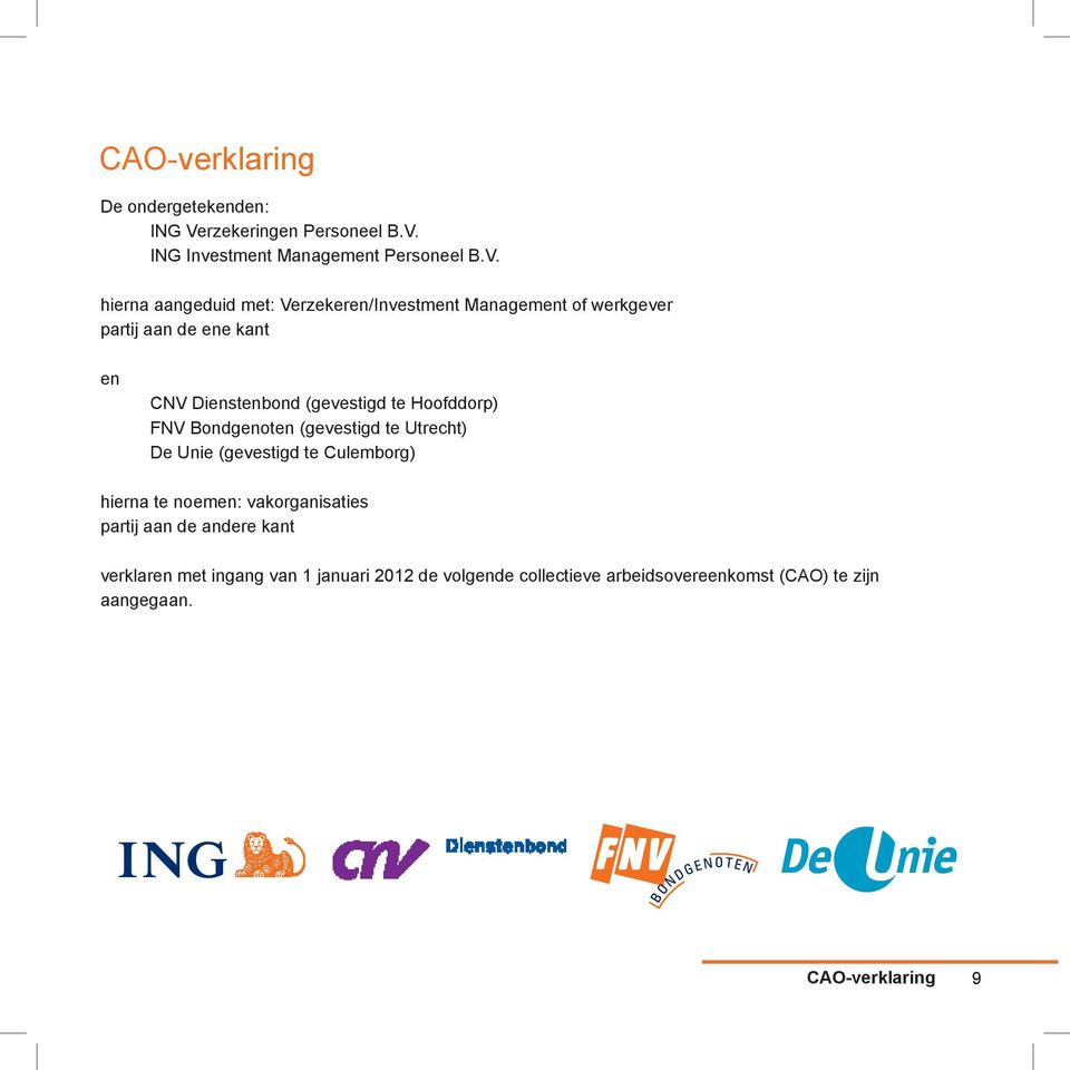 ING Investment Management Personeel B.V.