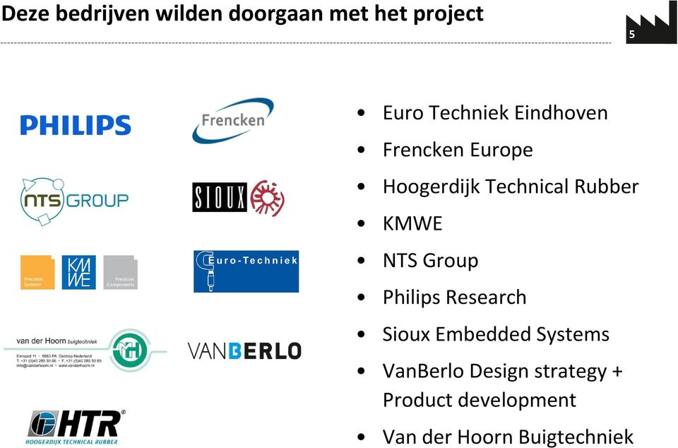 Rubber KMWE NTS Group Philips Research Sioux Embedded