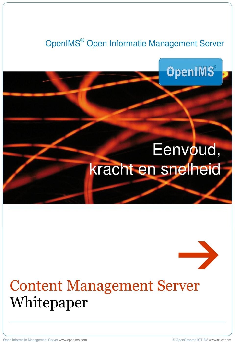 Whitepaper OpenIMS Content Management Server Open