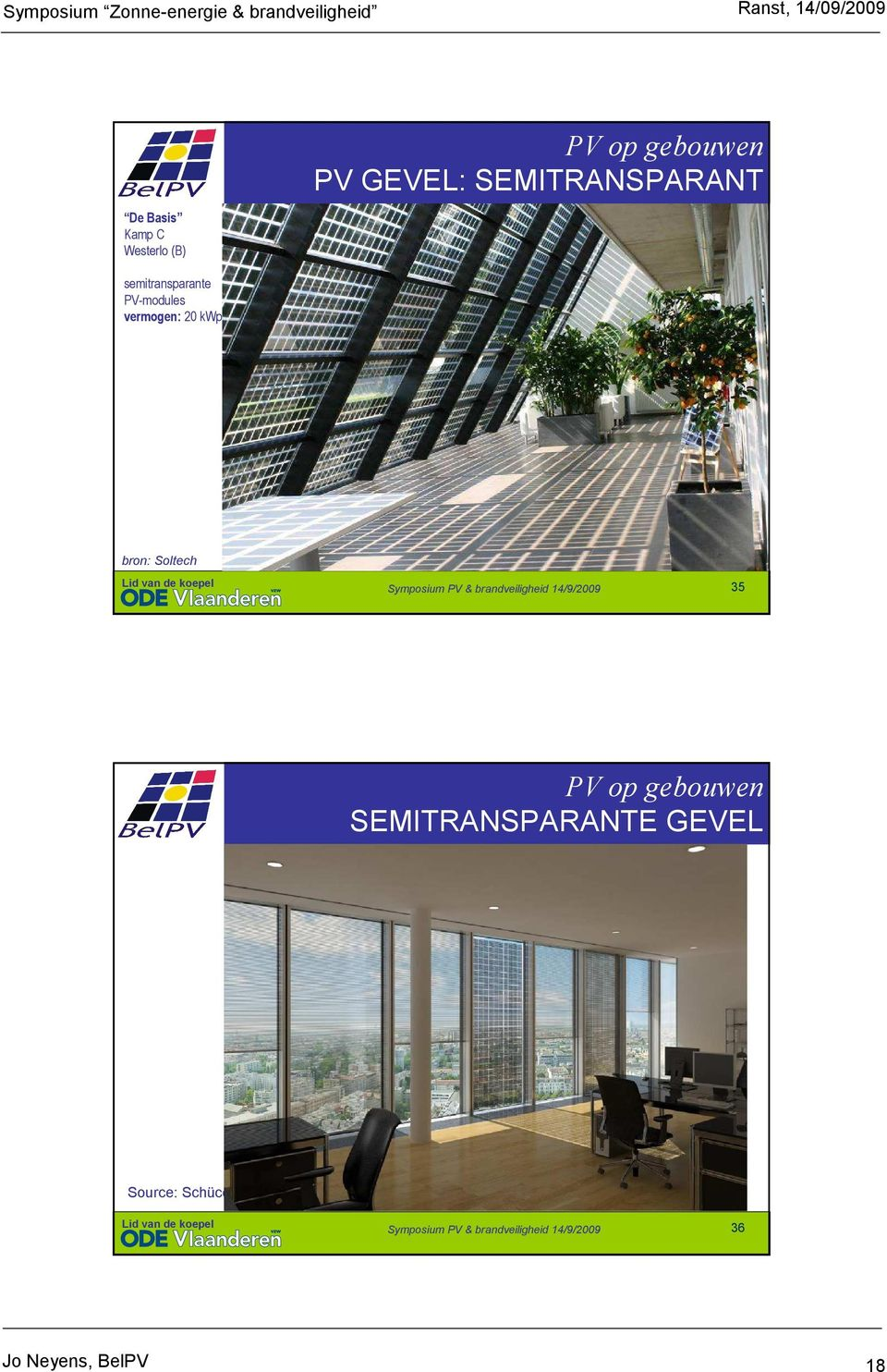 PV GEVEL: SEMITRANSPARANT bron: Soltech 35