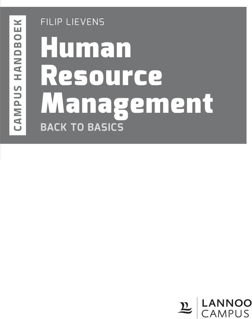 Human Resource Management Praktische