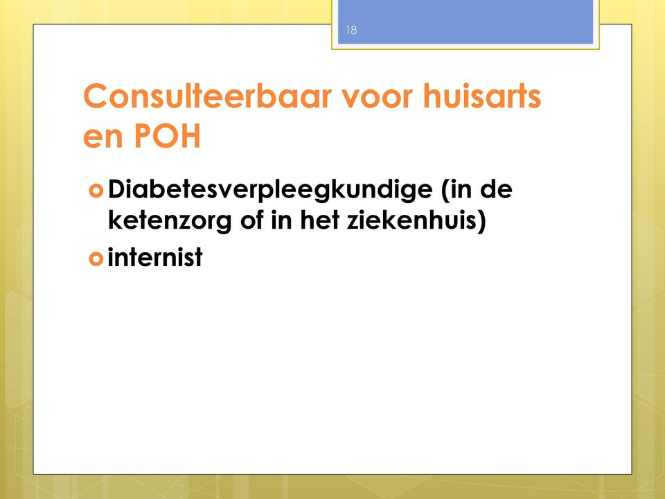 Diabetesverpleegkundige (in