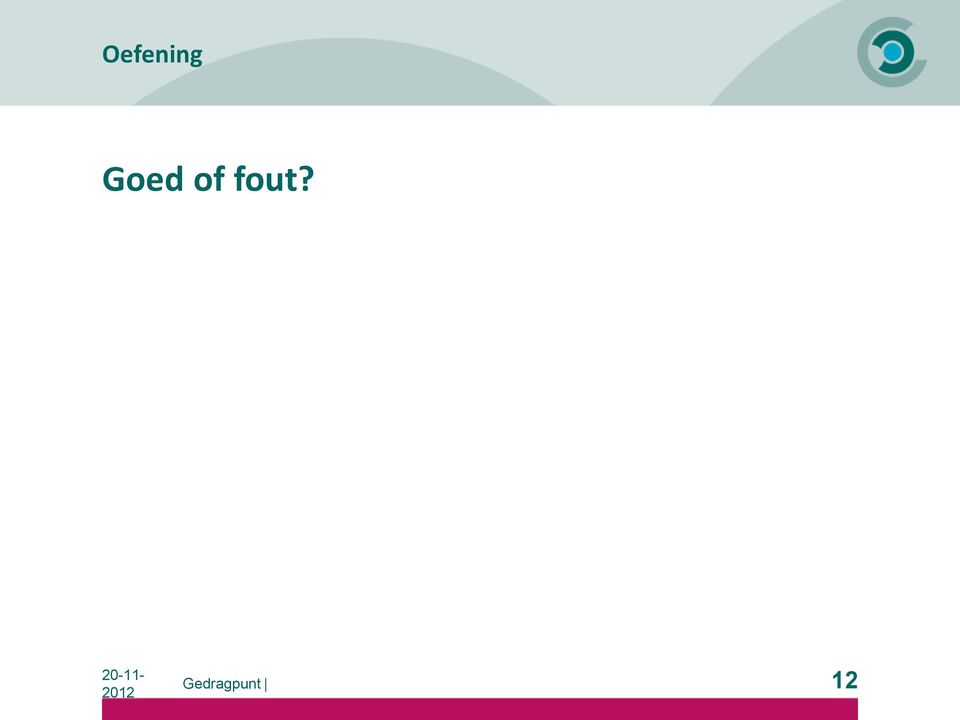 fout? 12