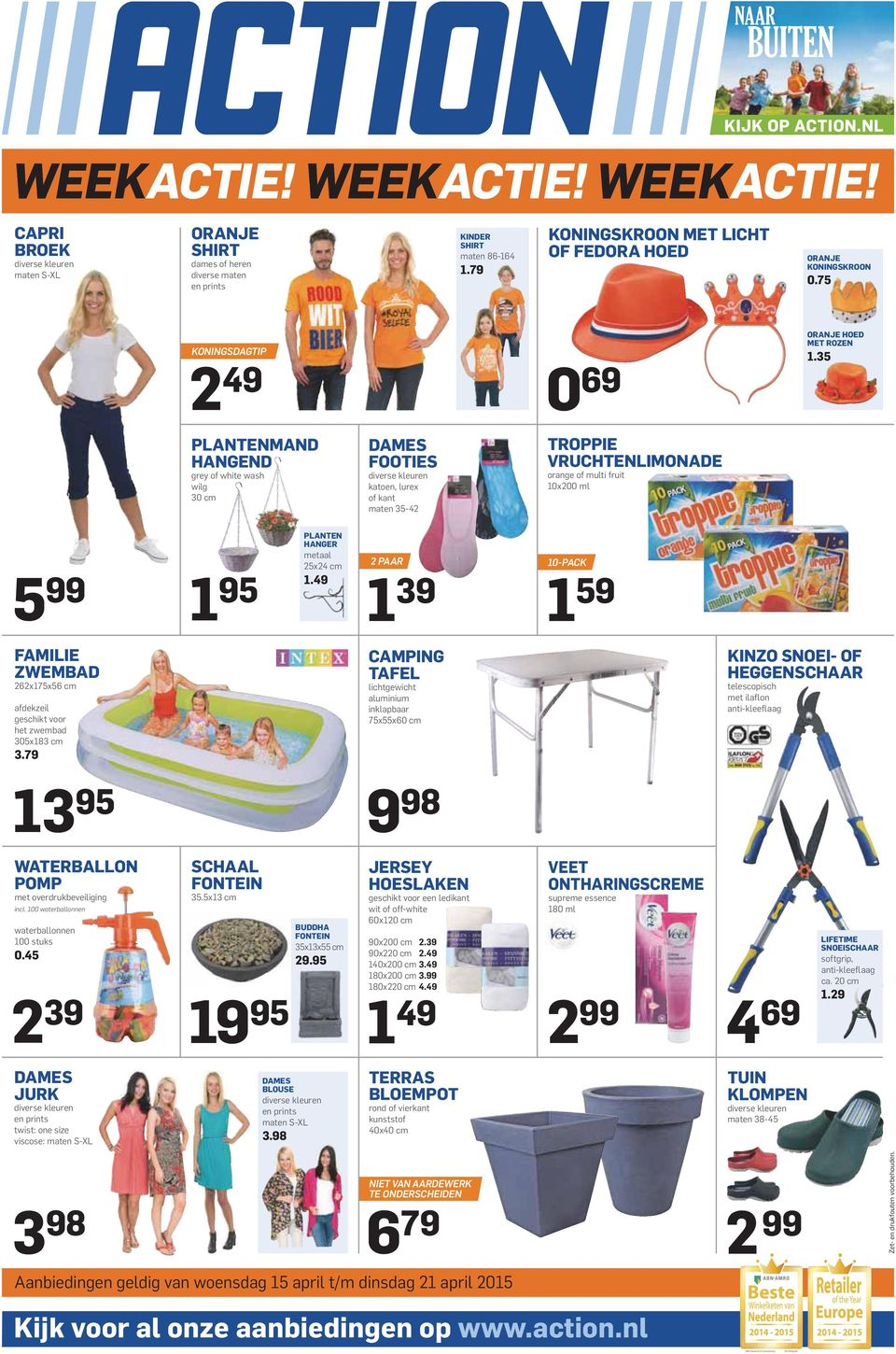 35 PLANTENMAND HANGEND grey of white wash wilg 30 cm DAMES FOOTIES diverse kleuren katoen, lurex of kant maten 35-42 TROPPIE VRUCHTENLIMONADE orange of multi fruit 10x200 ml 5 99 1 95 PLANTEN HANGER