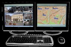 Systeemintegratie Inbraakdetectie Video analyse Perimeter beveiliging PIR buitendetectoren Supervisie software Client/server Analoge camera s Toegangscontrole systeem