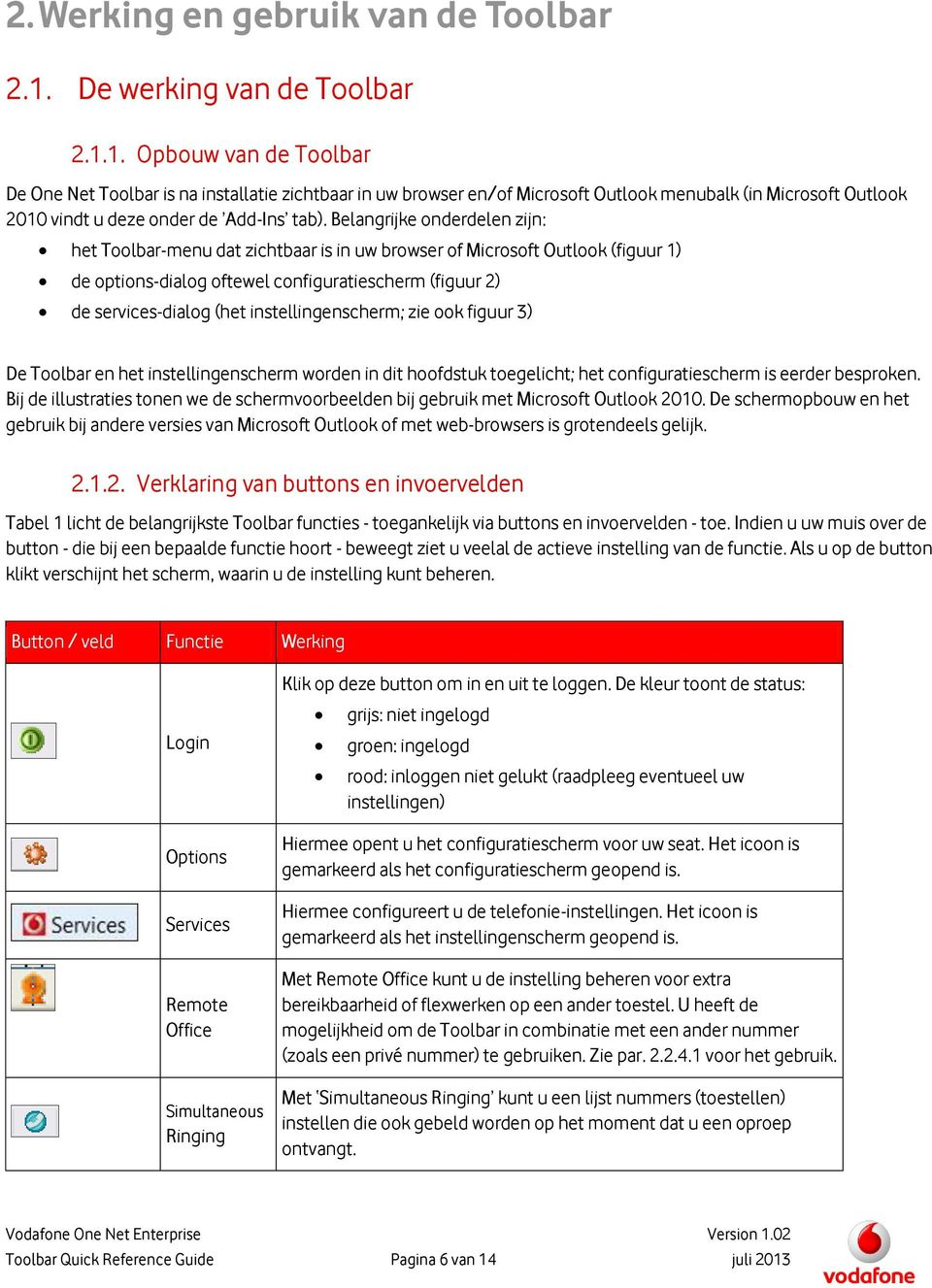 1. Opbouw van de Toolbar De One Net Toolbar is na installatie zichtbaar in uw browser en/of Microsoft Outlook menubalk (in Microsoft Outlook 2010 vindt u deze onder de Add-Ins tab).