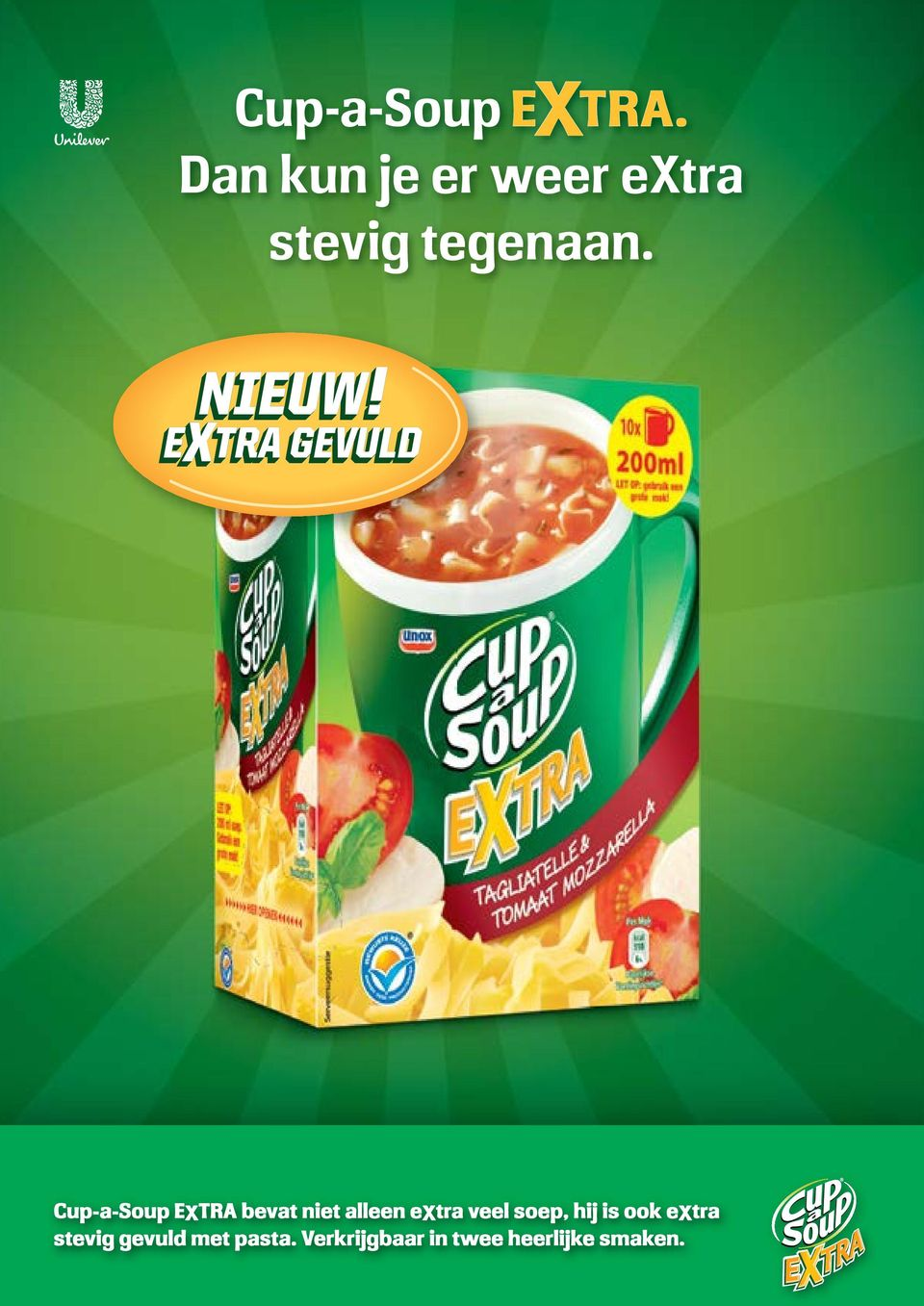 EXTRA GEVULD Cup-a-Soup EXTRA bevat niet alleen