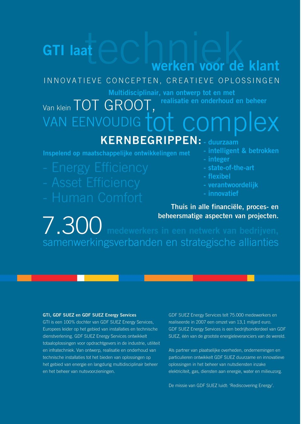 300 Kernbegrippen: - duurzaam Inspelend op maatschappelijke ontwikkelingen met - Energy Efficiency - Asset Efficiency - Human Comfort - intelligent & betrokken - integer - state-of-the-art - flexibel