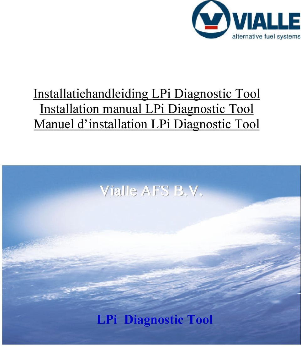 Tool Manuel d installation LPi Diagnostic
