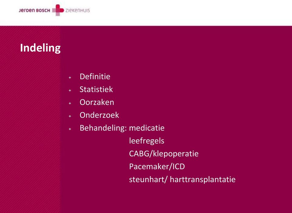 medicatie leefregels CABG/klepoperatie