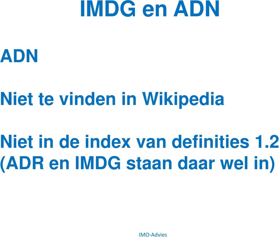 de index van definities 1.