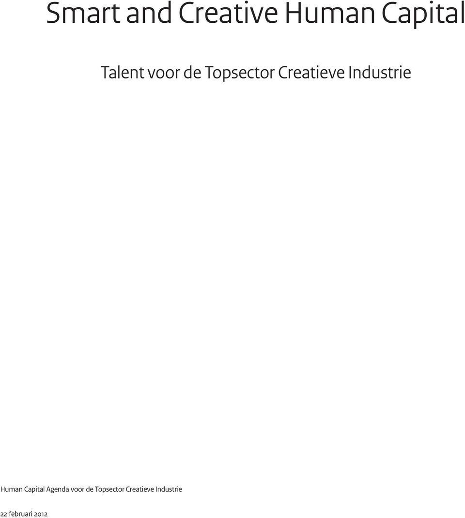 Industrie Human Capital Agenda voor de