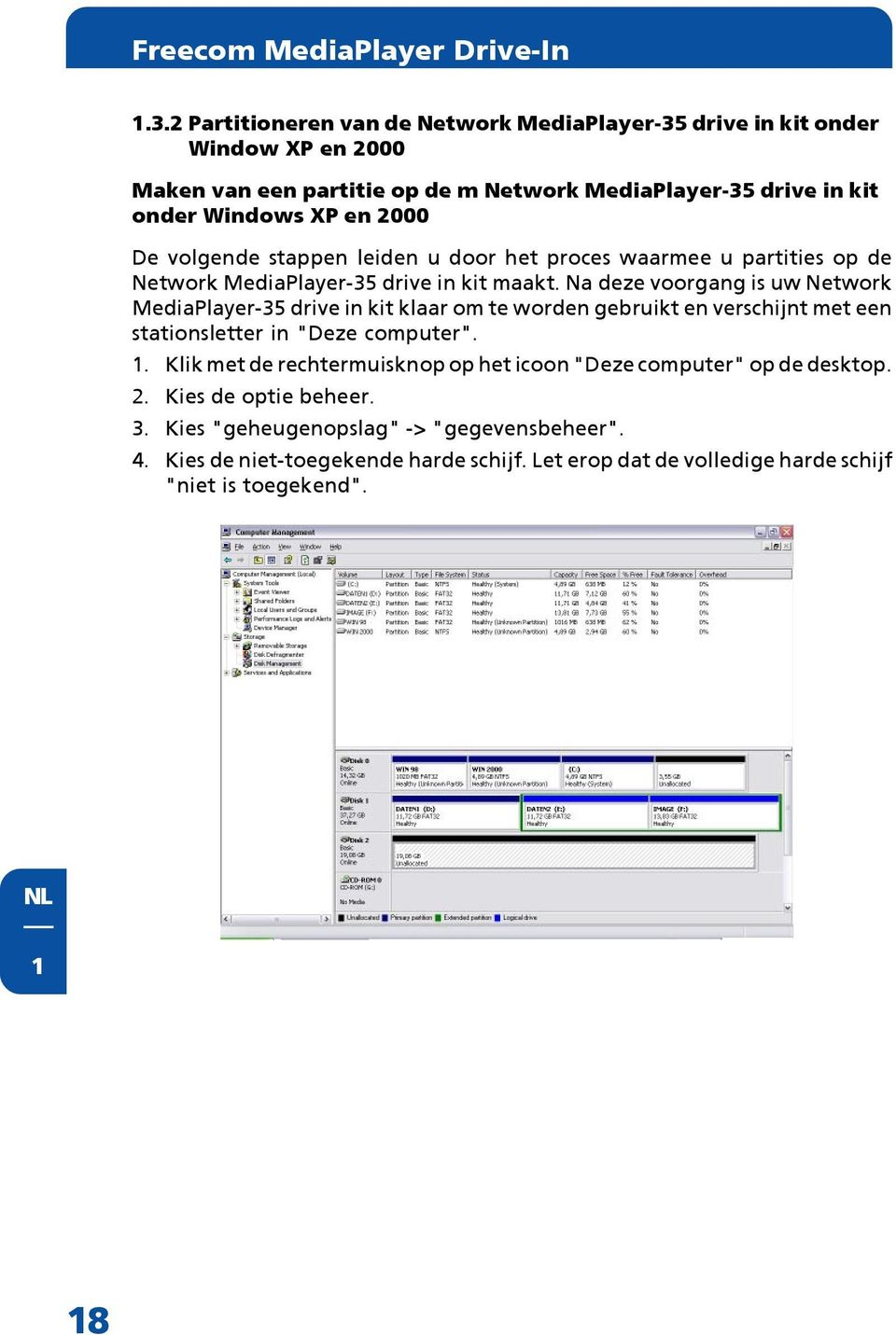Freecom network mediaplayer drive in kit handleiding pdf - Externe verwijderbare partitie ...