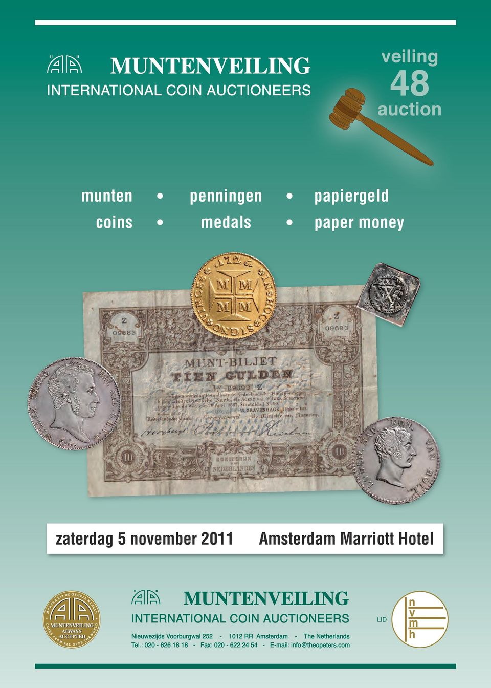 medals paper money zaterdag 5