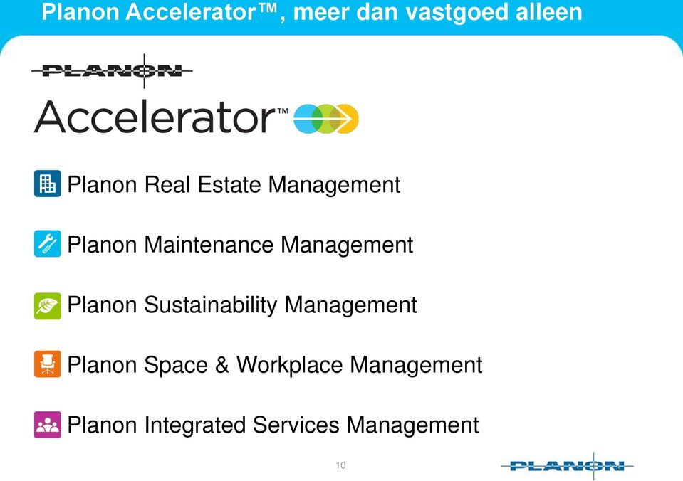Planon Sustainability Management Planon Space &