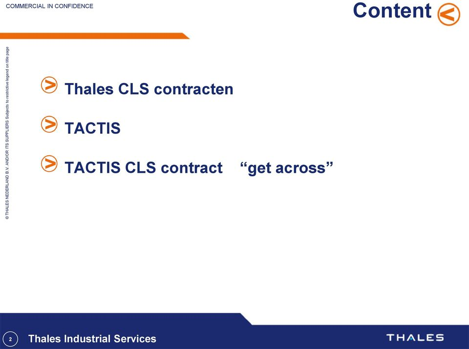 TACTIS CLS contract get