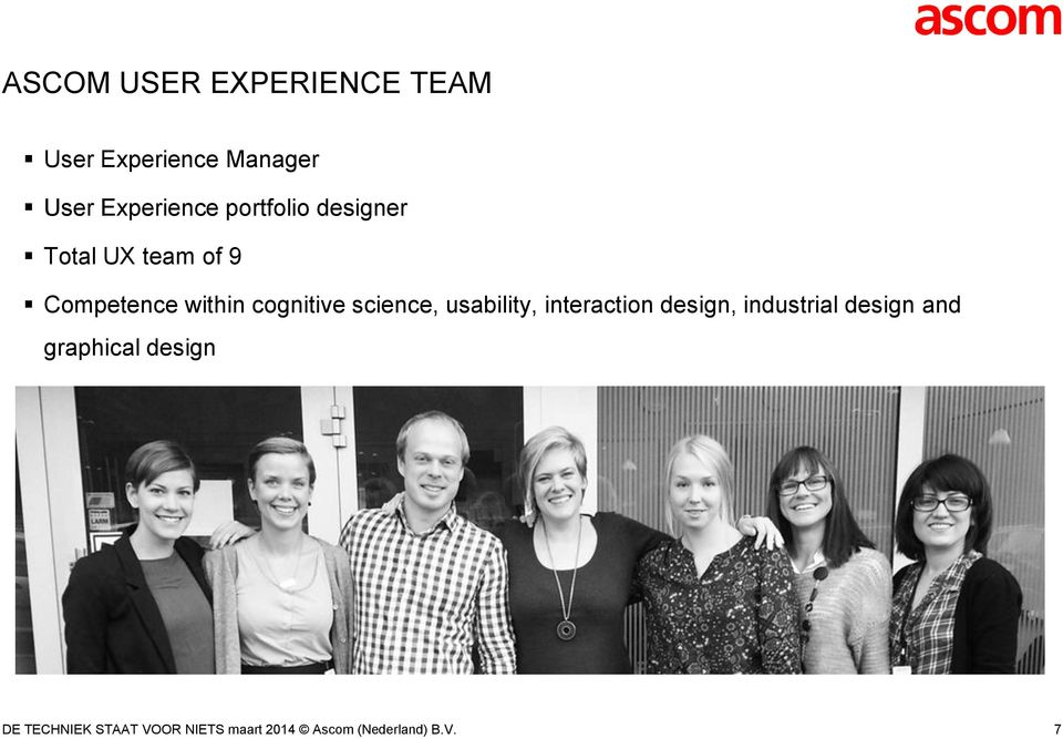 science, usability, interaction design, industrial design and
