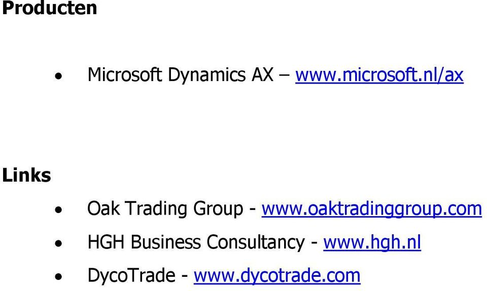 nl/ax Links Oak Trading Group - www.