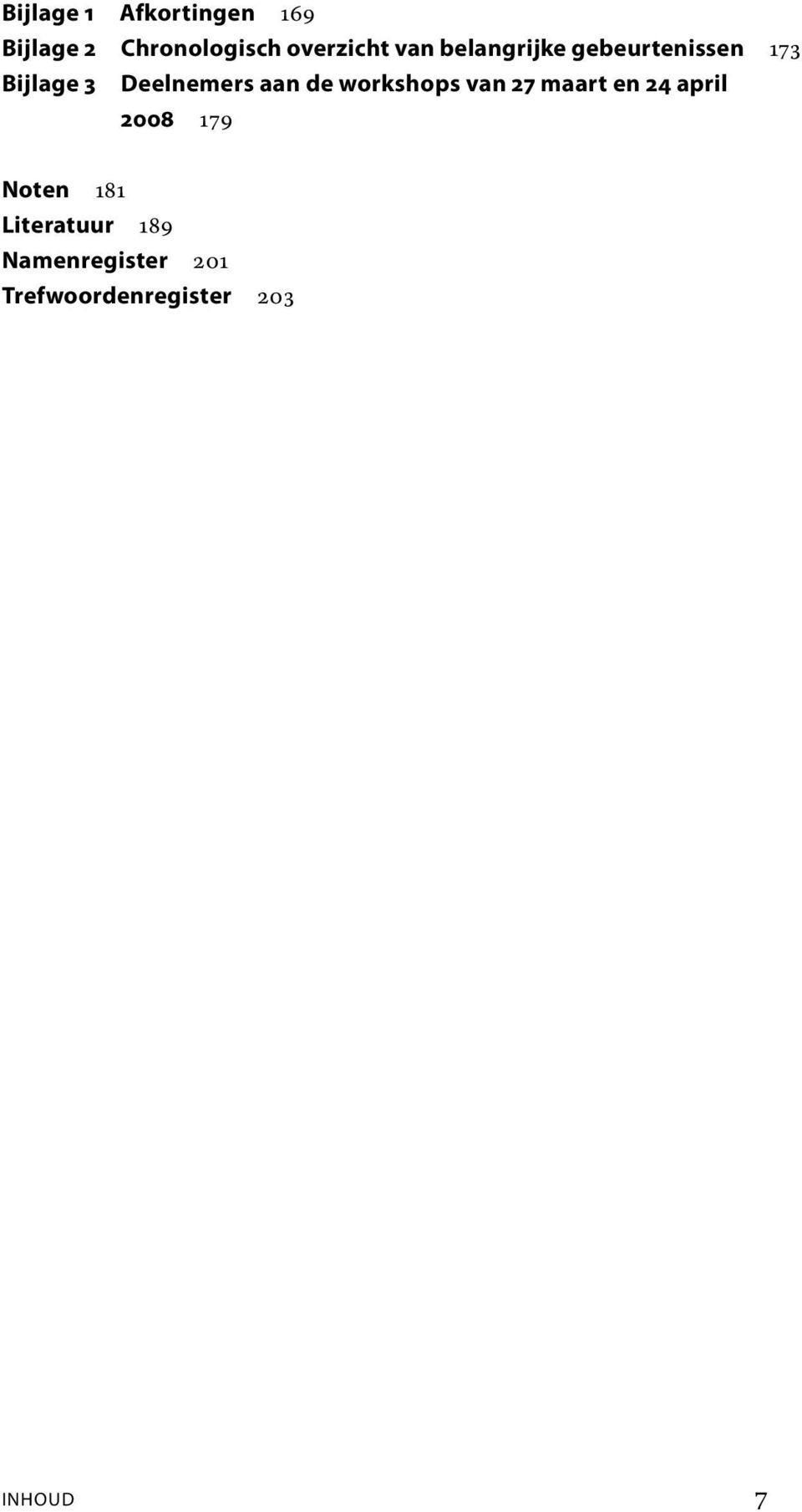de workshops van 27 maart en 24 april 2008 179 Noten 181