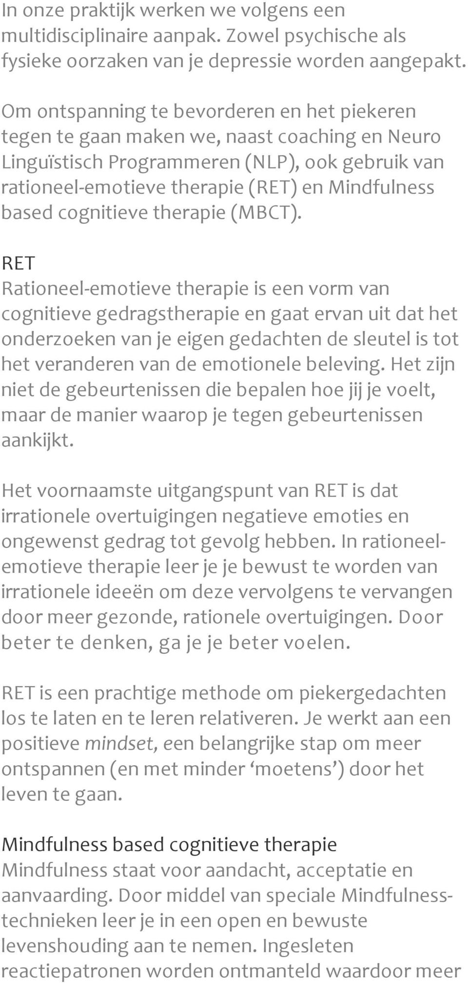 cognitieve therapie (MBCT).