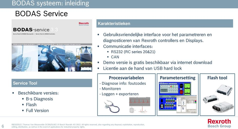 Communicatie interfaces: RS232 (RC series 20&21) CAN Demo versie is gratis beschikbaar via internet download Licentie aan