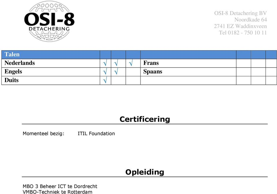 ITIL Foundation Opleiding MBO 3 Beheer