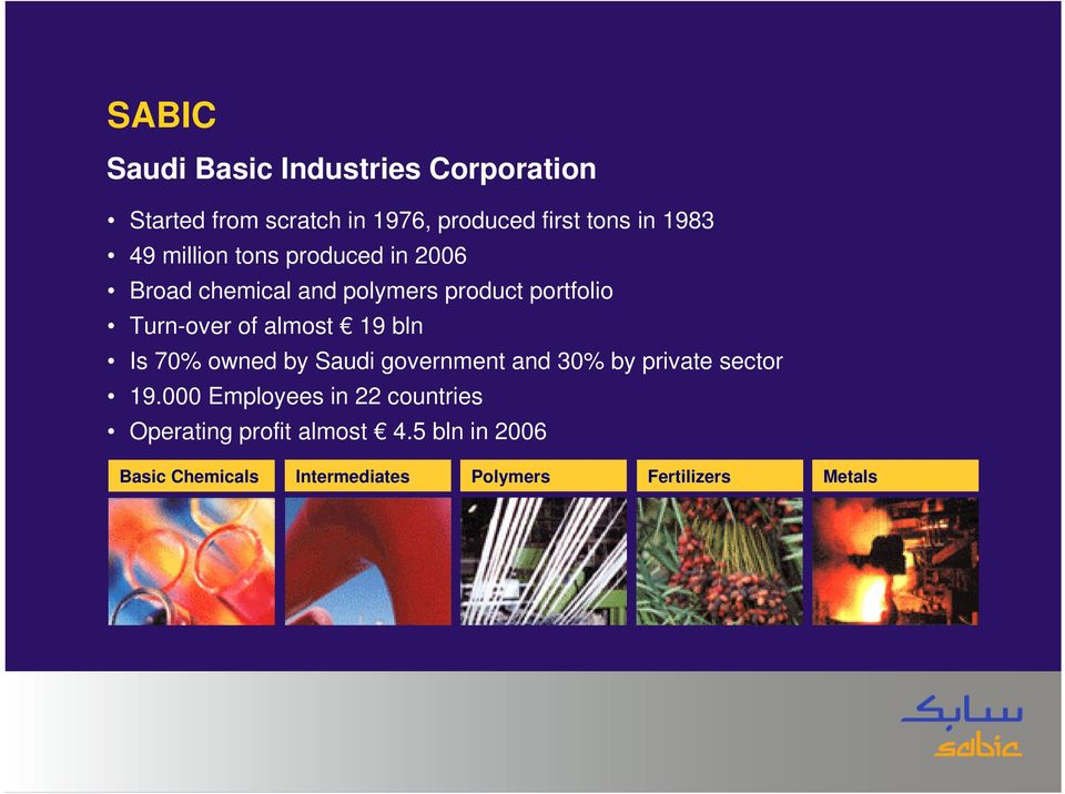 19 bln Is 70% owned by Saudi government and 30% by private sector 19.