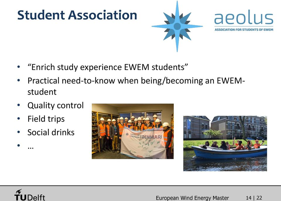 being/becoming an EWEMstudent Quality control