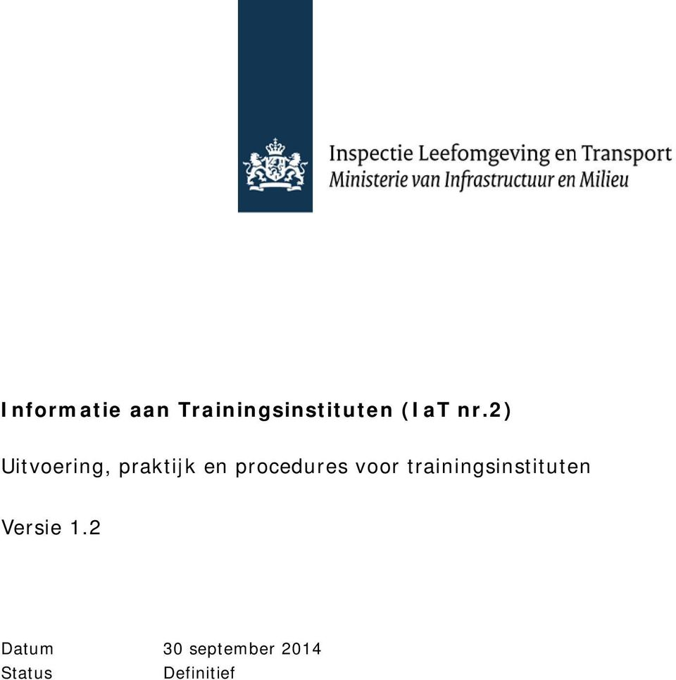 procedures voor trainingsinstituten