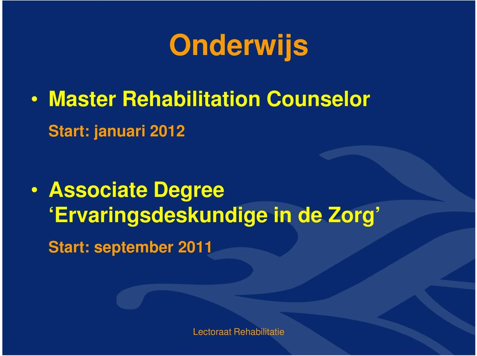 Associate Degree Ervaringsdeskundige