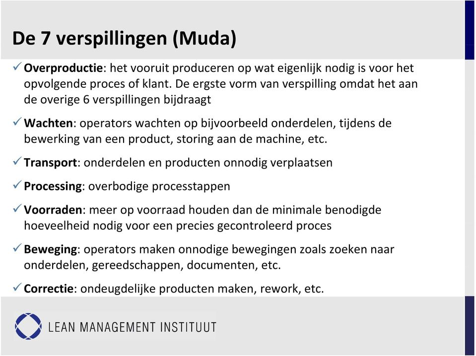 storing aan de machine, etc.