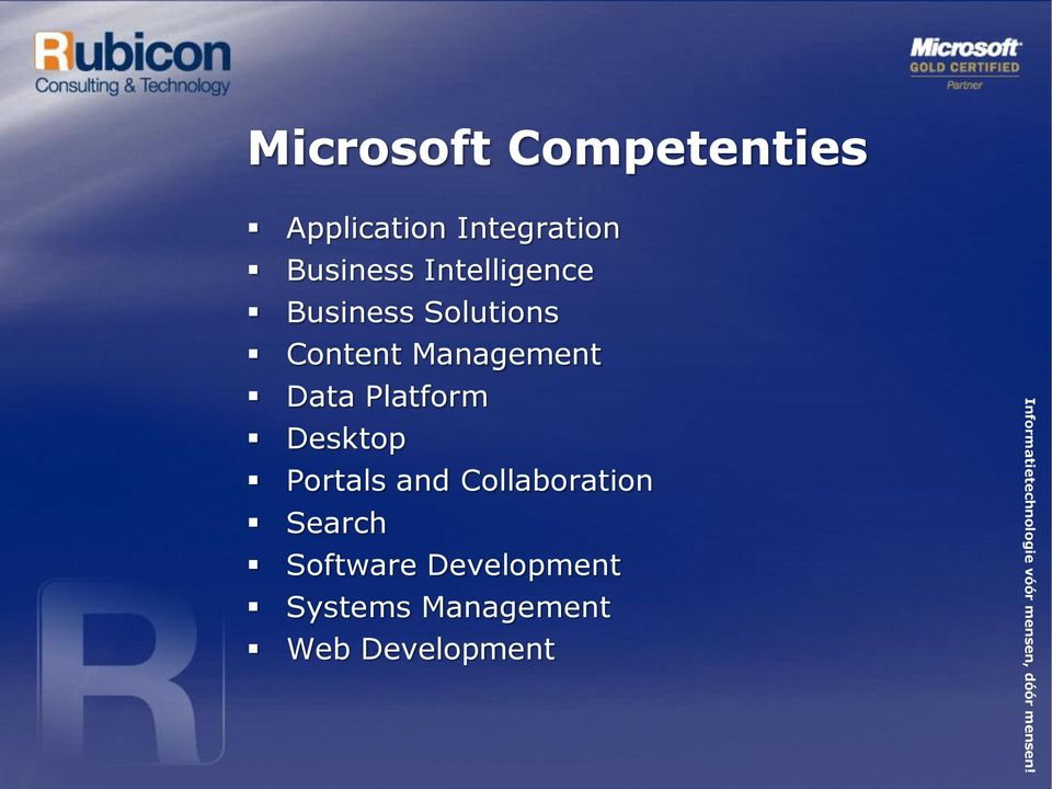 Management Data Platform Desktop Portals and